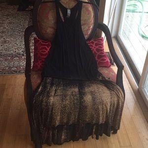 Go Couture Stretch Print Maxi High Low Hem Dress